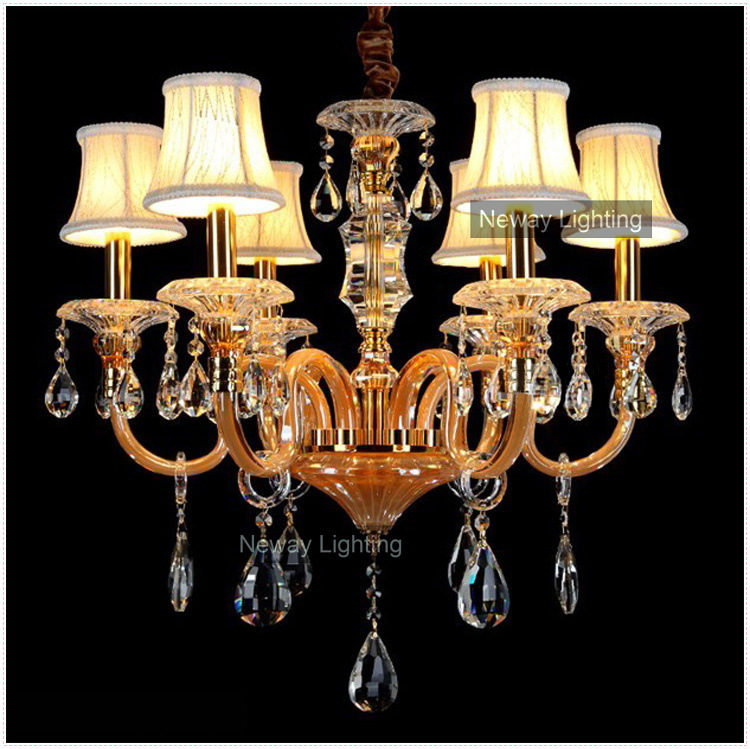 Free Shipping Modern Luxury Lobby Crystal Chandelier Wedding Centerpieces Decor at Wholesale Price (Model CC-N044-6)(China (Mainland))