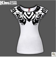 Free shipping 2013 new patch national wind clipart bump color restoring ancient ways women's short sleeve T-shirt