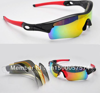 Hot!!!Brand Radar Path Cycling Bicycle Bike Outdoor Sports Sun Glasses Eyewear Goggle Sunglasses 5 color lens 46 Color Frames