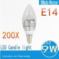 FREE Shipping  200XE14 E27  3x3W 9W Dimmable AC85~265V LED Candel Light LED bulb lamp LED spotlight