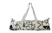 wholesale bargain price/pure cotton/woman Yoga Bags Big/flower design/white color Free Shipping