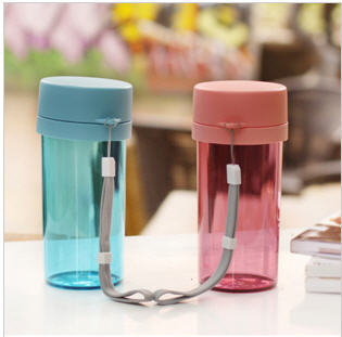 FREE SHIPPING (1piece ) 360ML Compartment Filter Leakproof Portable transparent Sports Cup(China (Mainland))