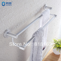 Free Shipping Aluminum Double Towel Bar Bathroom Accessory Bathroom Fitting Bathroom Accessory Set