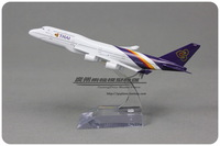 1:400 16cm Airplane Model Thai Airlines Boeing B747 400 Airways Aircraft Jetliner Alloy Plane Model Diecast Souvenir Vehicle Toy