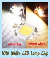 Free Shipping  10W LED Lamp Chip 900 -1000LM Bright  Led Chip Bulb Light White/Warm white in stock