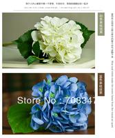 24 X 15cm  Quality Silk flowers Single Hydrangea Stem  multicolor Free Shiping VIA EMS