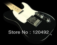Free shipping no case American Standard Telecaster Electric Guitar Maple Fretboard Black 04214
