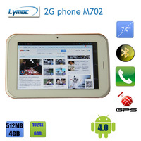 Freeshipping All functions Phablet 7 inch MTK6515 2G GSM Cell phone + GPS + Bluetooth + 1024x600 android 4.0 tablet pc