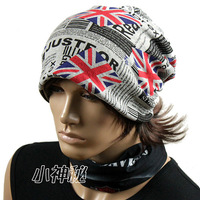 NEW CAP~Free shipping~M word flag rings light hat   Women hat   female pullover cap