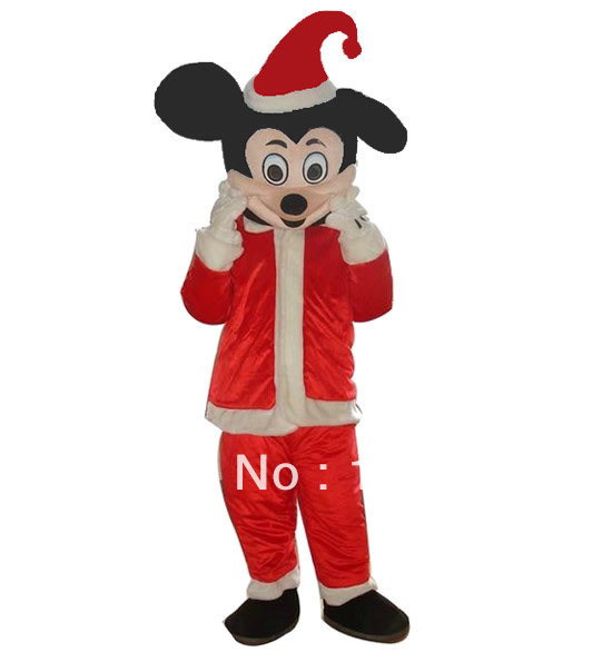 2013 New Arrival Christmas suit Mickey Mouse Mascot costume 1PCS Free shipping(China (Mainland))