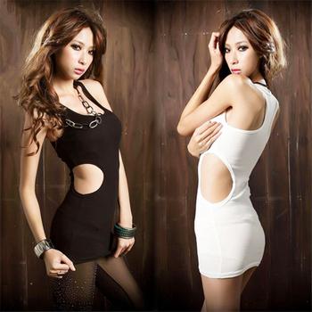 Sexy slim 568 rib knitting tank sexy hip slim one-piece dress low-cut basic