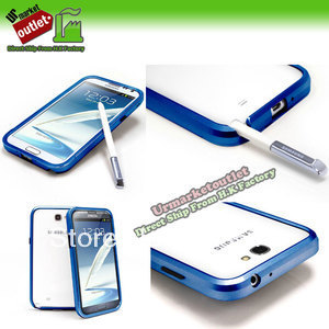 Triobump Blue Aluminum Frame Case Bumper for Samsung Galaxy Note II 2 N7100 SG