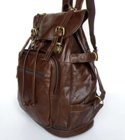 Vintage Genuine real leather  Men buiness handbag  laptop briefcase  shoulder bag backpack / woman  messenger  bag  JMD7047-365