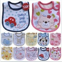 Free shipping! 5 Pieces Waterproof Unisex Baby Boys Girls Cute KATE Cartoon Carter Baby Bib, Random Shipping.