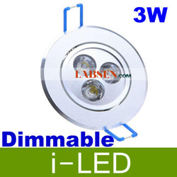 30p/lot Perfect White Shell Dimmable 3W 1X3W Led Light Recessed Lamp Lights 110V 230V Led Downlights Cool/Warm White(China (Mainland))