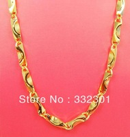 Free shipping Heavy  Bow 14K yellow solid gold filled  Men's Chain Necklace NICE! Not Scrap 82g
