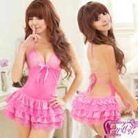 Sexy lingerie pink princess dress+g string set sleepwear costume sexy sleepwear,sexy kimono ,sexy uniform