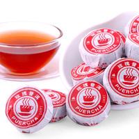 60g/10pcs Rose Flavor Pu'Er Pu erh Pu'erh Tea small cake  Ripe Tea -Lose Weight Health Care Freeshipping
