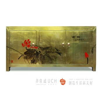 Classical furniture chinese style antique solid wood colored drawing cabinet side cabinet tv cabinet multicolor