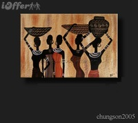 Modern Figural Art Canvas African Painting