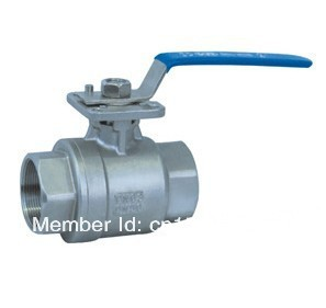 "DN25 1"" 2pc full port ball valve with ISO pad 5211,ss304"