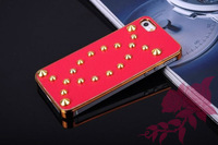 Wholesale 100 PCS new fashionable rivets series high quality pan cover case for iphone 5 g