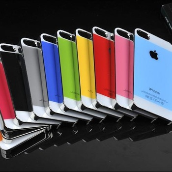 Free shipping for iphone 5  color scratch-resistant glass shell phone.The edge of the plating + special fiber.