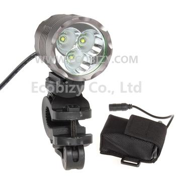 1800 Lumen 3X CREE XPG-R5 LED Bicycle Light Bike Lamp + 4400mAh Rechargeable Battery Pack, 3 Mode Waterproof, Free Shipping