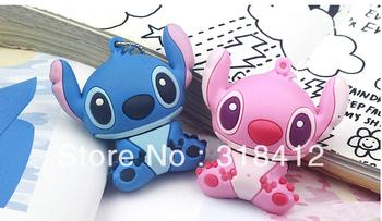 Retail genuine 2G/4G/8G/16G/32G cartoon flash drive cute stitch pen drive silicone usb flash drive Free shipping