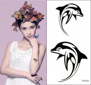 12X6cm  Dolphin water transfer tattoos,waterproof tattoos,body tattoo sticker,20pcs/lot,FREE SHIPPING