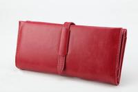 2013 new style Classic Vintage Leather belt 3 fold multifunctional women lady girl female purse Wallet bag handbag free shipping
