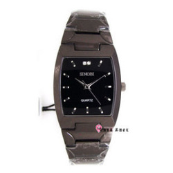 free shipping Sinobi men's watch sinobi black square quartz steel sheet(China (Mainland))