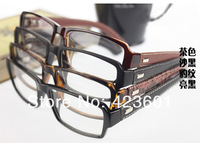 Cool Black Optical Frame PU Leather Wrap Legs Good Quality Optical Frame Glasses Clear Lens 10pcs Free Shipping