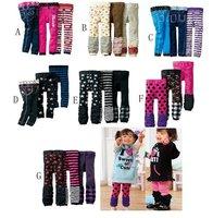 Free shipping!! 12pcs baby girls/boys tights, cotton slim pants,baby leggings,mixed designs
