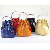 Hilly Multicolour Genuine Leather Bucket Bag Small Genuine Leather Handbag Women's