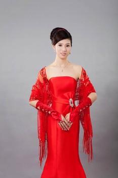 Bride yarn cape red thin cape lace cape wedding wrap formal dress cape