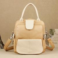 2013 candy color jelly biscuits color block backpack shoulder bag messenger bag handbag women's handbag