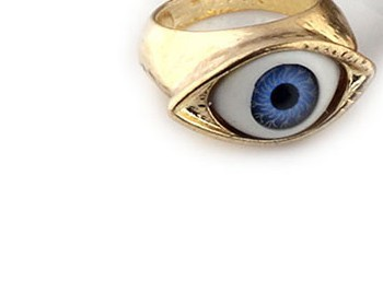 Free Shipping + New Golden BLUE Eyes Of Style Restoring Ancient Ways Ring + Wholesale OR Retail | | BLUE CAST(China (Mainland))