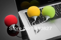 mini balloon speaker with mic for iphone mp3/mp4 cellphone  ball shape speaker, 150pcs dhl free shipping