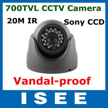 Big sale 3pcs/lot 24LED IR 1/3 Sony CCD 700TVL Effio-E Vandal-proof CCTV Dome Camera Outdoor Security Free Shipping