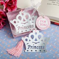 Free Shipping Elegant and Creative Silver Princess Crown Bookmark Favor 20pcs