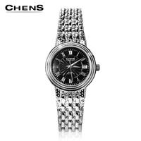 Chens vintage waterproof ultra-thin lovers quartz wrist length women's table men's watch lovers watch