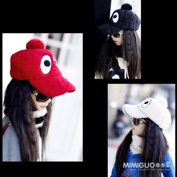 Children's clothing female child hair ball berber fleece cap baseball cap parent-child cap  free shipping