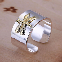 R011 Wholesale 925 silver ring, 925 silver fashion jewelry, Dragonfly Ring-Opened ktar