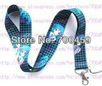 Sell well New Lots of 100 pcs HATSUNE MIKU phone mp3/4 bags Neck Straps Lanyard Free shipping