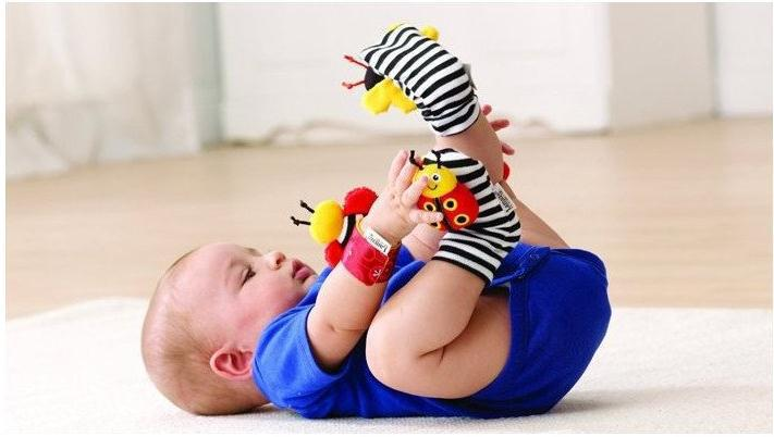 Free shipment New arrival baby rattle baby toys Lamaze ring paper Wrist Rattle and Foot Socks Garden bee Wrist Rattle+Foot Sock(China (Mainland))