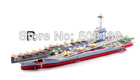 free shipping diy 3d paper puzzle 4 sheets / 98 pcs  jigsaw puzzle USS FORD AIRCRAT CARRIER 27modes to choice puzzle game