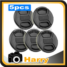 5pcs 82MM Center Pinch Lens Cap Cover Center Pinch Snap-on Front Lens Cap for canon nion with String(China (Mainland))