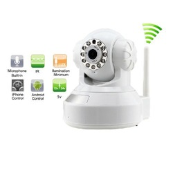 WANSVIEW Wireless WiFi Pan Tilt Network IR Night Vision Surveillance IP Camera Dual-Way Audio Support Iphone Smartphone View(China (Mainland))