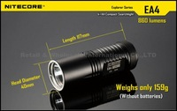 1PC NITECORE EA4 Explorer Series Flashlight Outdoor 8 Mode IPX-8 HAIII Military Cree XML U2 LED Flashlight Camping Torch